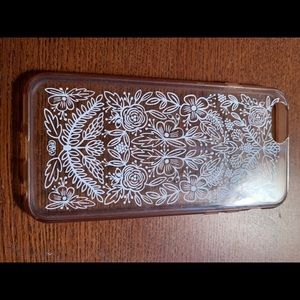 Rifle paper company clear floral iPhone 7 case